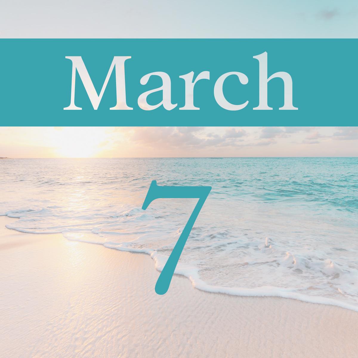 Saturday, March 7th