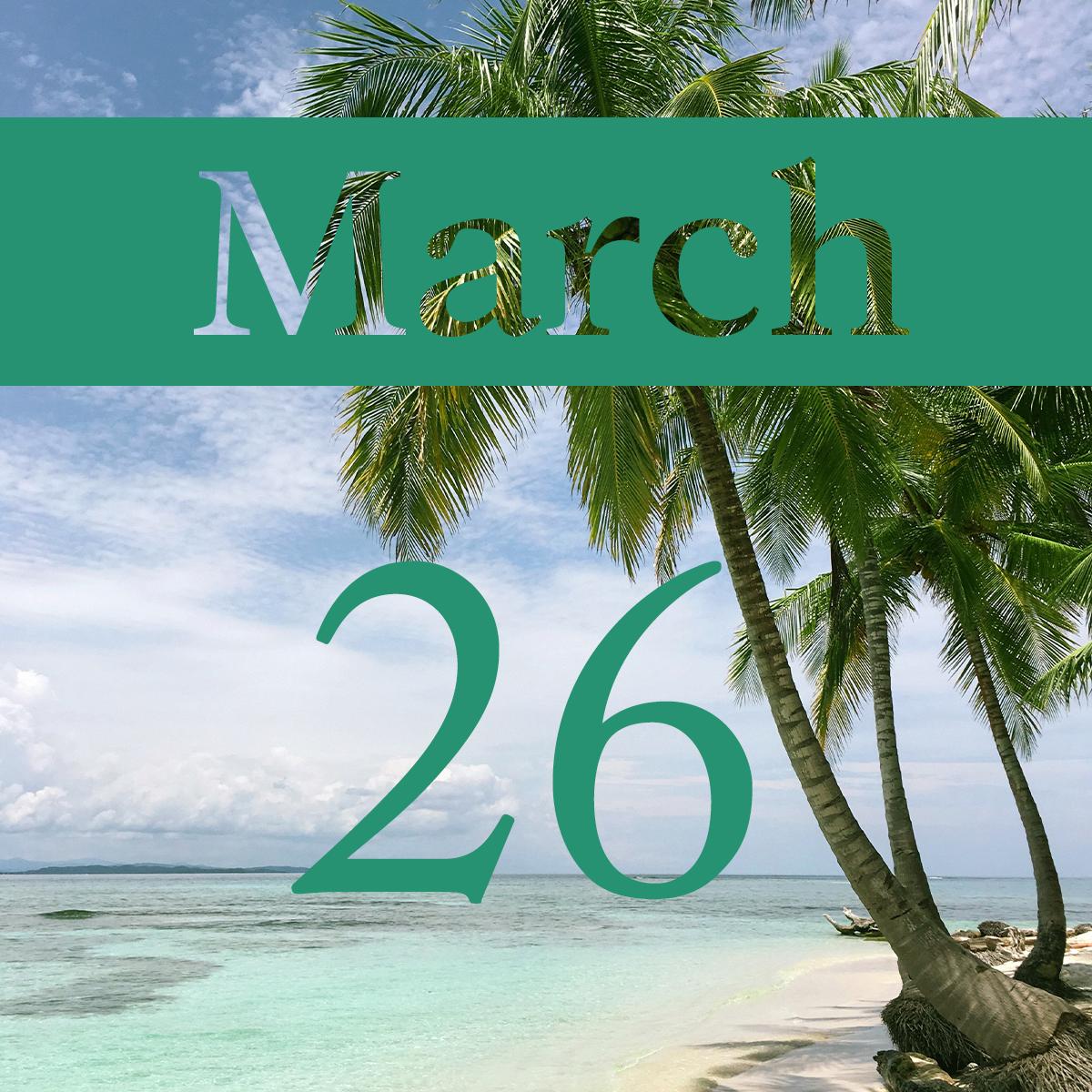 Thursday, March 26th